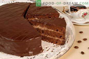 Cakes. Cake recipes: Napoleon, Honey cake, Biscuit, Chocolate, Bird's milk, Sour cream ...