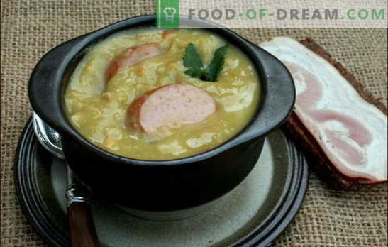 Olandų sriuba - daug skonio! Įvairių olandų sriubų receptai: žirnių, daržovių ir mėsos, mėsos ir šoninės