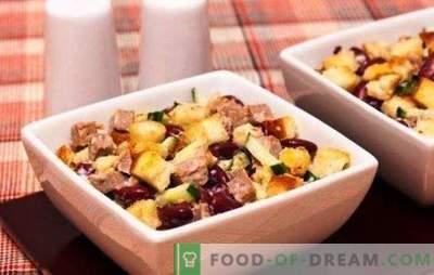 Salotos su pupelėmis ir sūriu - maitinančios ir maistingos! Receptai kasdienėms ir šventinėms salotoms su pupelėmis ir sūriu