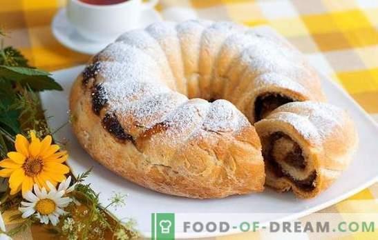 Roll su razinomis - už kasdienį ir šventinį stalą. Geriausi receptai razinų ritinėliams: mielės, smėlis, pufas, sausainiai