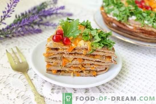 Kepenų kepenų tortas (foto receptas): sultingumo paslaptis! Žingsnis po žingsnio Keptos vištienos pyragas su nuotraukomis