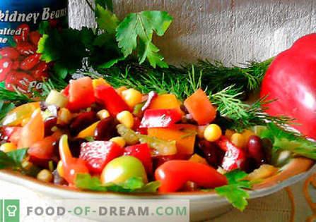 Meksikos salotos - geriausi receptai. Kaip tinkamai ir skaniai ruošti Meksikos salotas.