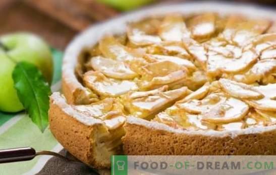 Charlotte in een pan met appels: favoriet gebakje met haast. De beste recepten charlotte in een pan met appels
