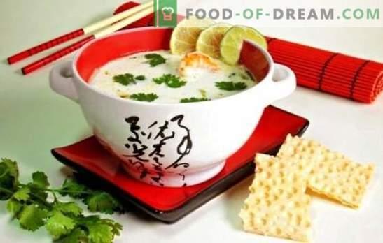 Kokosų sriuba - skanus bilietas į egzotines keliones! Saldžios, sūrus ir aštrus sriubos su kokoso pienu autoriaus receptai