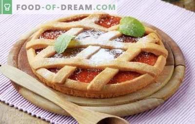 Tešlos pasirinkimas atviram pyragui su uogiene - profesionalus patarimas. Atviras uogienės pyragas - pagal savo receptą