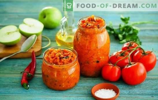 Adžika iš cukinijų su obuoliais yra saulės spindulys iš Abchazijos. Leiskite pašildyti iš cukinijų su žiemomis ir pavasariais su obuoliais!
