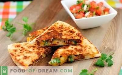 Tortilla su sūriu yra patrauklus burrito! Maisto gaminimas namuose Meksikos tortilija su sūriu pagal paprastus receptus
