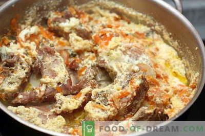 Triušis grietinėje - geriausi receptai. Kaip tinkamai ir skaniai virti triušių grietine.
