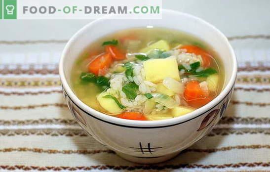 sriuba su ryžiais ir bulvėmis: greitai, skaniai ir sveikai. Virimo sriuba su ryžiais ir bulvėmis yra paprastas ir greitas procesas