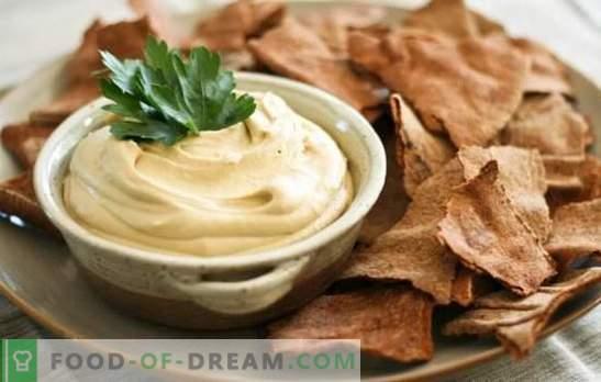 Aromatinis hummusas: klasikiniai žydų receptai. Virimo hummus pagal klasikinius avinžirnius ir sezamo receptus, daržoves
