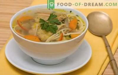 Vištienos makaronų sriuba - lengvas, skanus, gausus pietūs. Vištienos sriuba su makaronais receptai: su daržovėmis, grybais, sūriu