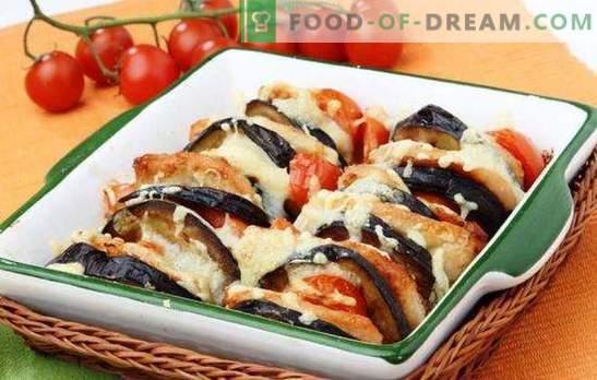 Cukinijos ir baklažanų troškinys orkaitėje yra naudinga. Receptai cukinijos ir baklažanų puodeliai orkaitėje su sūriu, smulkinta mėsa, vištienos krūtinėlė