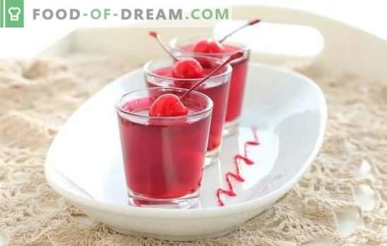 Vyšnių želė: greito desertų receptai, pasiruošimas žiemai. Vyšnių želė su tirštikliais ir be želatinos technologija