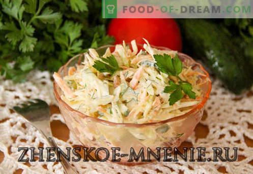 Salată cu varză - rețetă cu fotografii și descriere pas cu pas