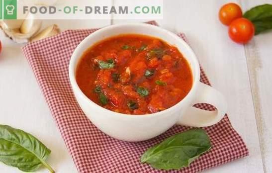 Pomidorų prieskoniai žiemai: vasaros pomidorų skonis šaldytuve. Kaip gaminti pomidorų prieskonius žiemai