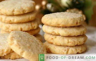 Cookies op zure room - zelfgemaakte zullen blij zijn! Eenvoudige recepten zure room koekjes met cacao, rozijnen, noten, kwark, gecondenseerde melk