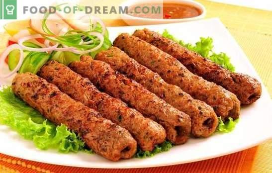Lyulya-kebabas keptuvėje - alternatyva mėsos taukams. Naminių kebabų virimo keptuvėje paslaptys
