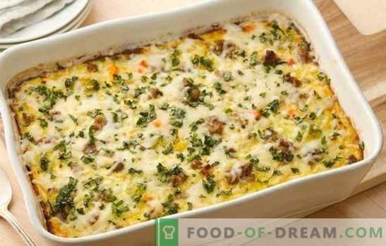 Daržovių troškinys su smulkinta mėsa - paprastas ir patenkinamas patiekalas. Geriausių naminių receptų pasirinkimas daržovių puodeliams su maltomis