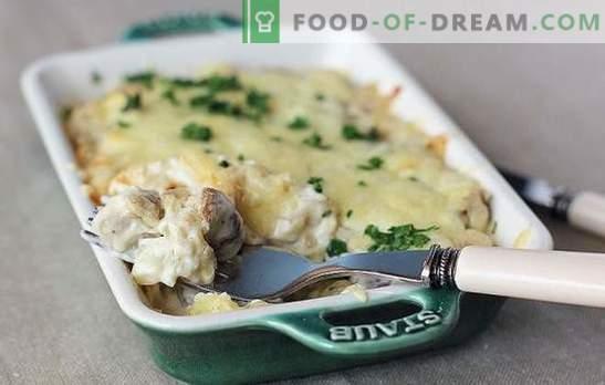 Keptos, kepintos arba troškintos bulvės su grybais grietine: niekas nėra abejingas! Paprasti bulvių receptai su grybais grietine
