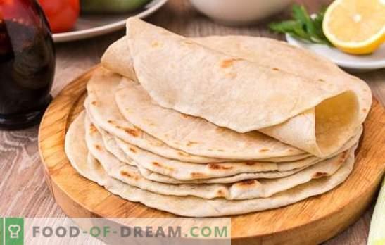 Kviečių tortilja: paprastas ir maistingas patiekalas visai šeimai. Geriausi skanių kviečių tortilijų receptai iš turimų produktų