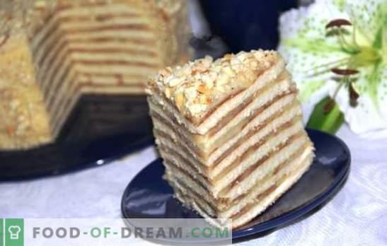 Tortas keptuvėje su kondensuotu pienu yra dieviškas! Medaus, grietinės, šokolado ir varškės pyragaičių receptai keptuvėje su kondensuotu pienu