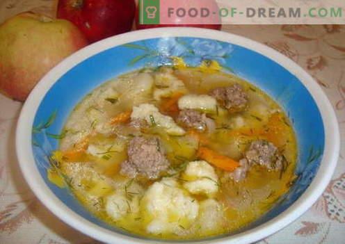Koldūnų sriuba - geriausi receptai. Kaip tinkamai ir skaniai virti sriuba su koldūnais.