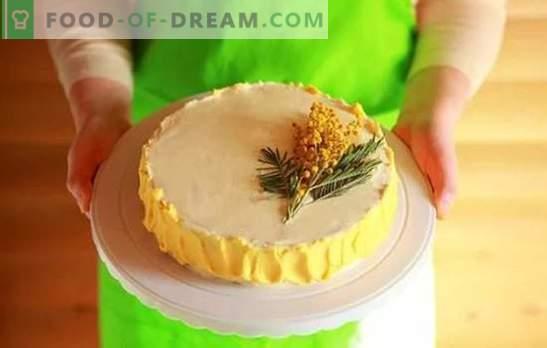 Cake Cream: žingsniai po žingsnio naminių desertų receptai. Saldžių ir oro kremų gaminimas pyragams, naudojant nuoseklius receptus