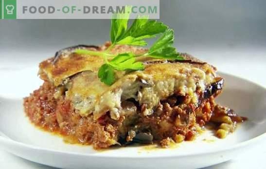 Baklažanų troškinys su pomidorais ir smulkinta mėsa yra skanus derinys. Geriausi baklažanų troškiniai su pomidorais ir smulkintais