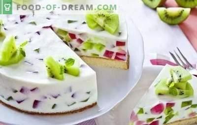 Tortas su želė ir vaisiai: spalvingas desertas arbatai! Pyragai su želė ir vaisiai, uogos, varškės ir sausainiai