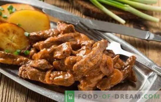 Говедско месо: класичен рецепт за месо. Тајните на говедско месо од говедско месо: класични и различни опции