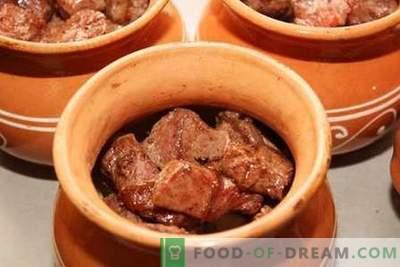 Supakuota mėsa - geriausi receptai. Kaip tinkamai ir skaniai virti mėsą puoduose.