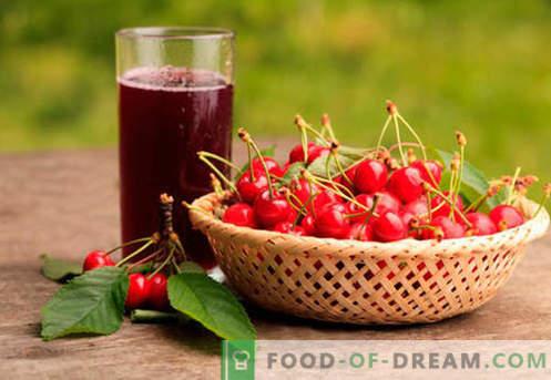 Vyšnių kompotas - geriausi receptai. Kaip tinkamai ir skanus kompotas pagamintas iš vyšnių.