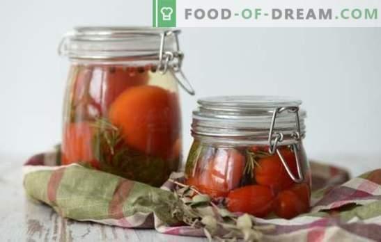 Marinatas pomidorams - pagrindinis pomidorų paruošimo veikėjas! Receptai skaniems marinatams pomidorams: su actu, aspirinu, degtine