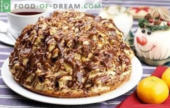 Curly Pincher Cake - įdomus ir skanus! Receptai šokoladui, riešutams, vaisių pyragams