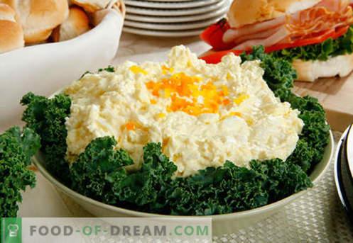 Kiaušinių salotos - patvirtinti receptai. Kaip virti kiaušinių salotas.