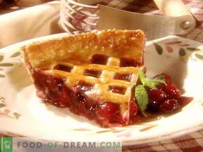 Cherry Pie - geriausi receptai. Kaip tinkamai ir skaniai virti vyšnių pyragą.