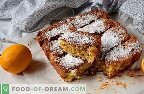 Lemon Pie: žingsnis po žingsnio nuotraukų receptas. Kvapnus jų minimalių produktų kepimas - naminis citrinų pyragas