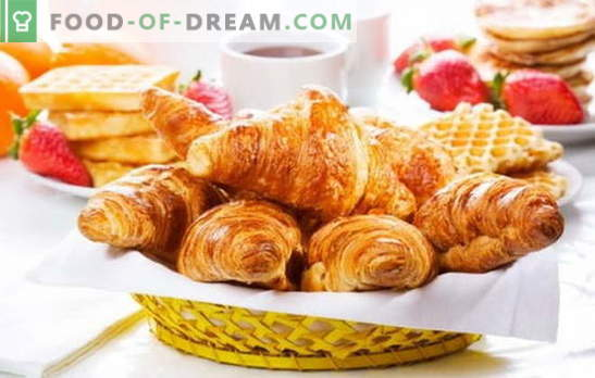 Croissant iš gatavų tešlos - traškūs pyragaičiai be vargo. Geriausi croissantų receptai iš gatavo bandymo: saldus ar sūrus
