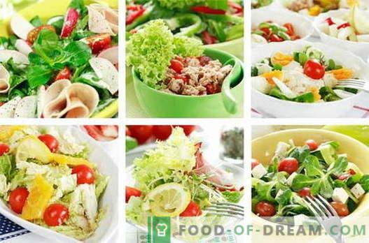 Vištienos salotos yra geriausi receptai. Kaip virti vištienos salotas.