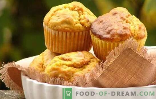 Moliūgų puodelis - kepimas su nauda! Pasirinkimas tešmenų su moliūgais ir razinomis, cukruotų vaisių, grūdų, šokolado, riešutų receptais