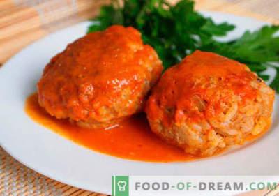 Mėsos riešutai su ryžiais įrodytais receptais. Kaip tinkamai ir skaniai virti mėsos taukus su ryžiais.