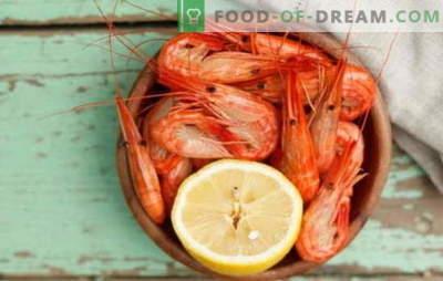 Kaip ir kiek virti krevetes? Subtilybės, paslaptys, virti, užšaldyti, nulupti, karališki ir kiti krevetės virimo receptai