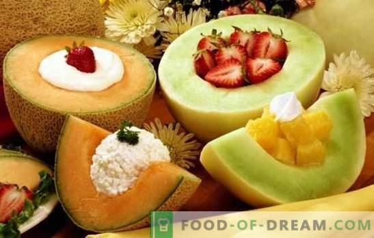 Los postres de melón son un manjar aromático para los dientes dulces. Una selección de las mejores recetas de postres de melón