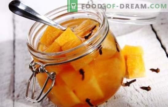 Marinuoti melionai - netikėti bandymai su skoniu. Geriausi marinuotų melionų receptai: su medumi, vyšniomis, imbieru