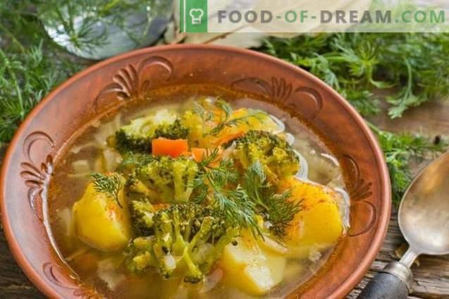 Skanus liesas sriuba su bulvėmis ir brokoliais