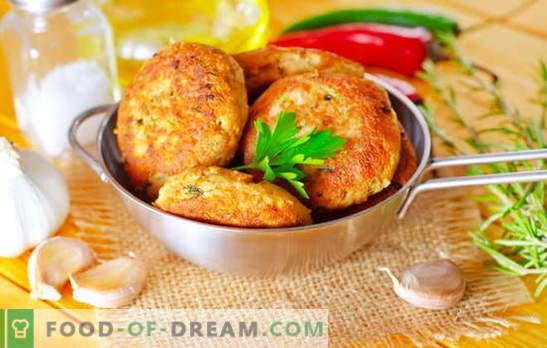 Rožinių lašišų kotletai yra žuvų mėgėjų šedevras. Receptai rausviems lašišoms su sūriu, ryžiais, varškės, kalmarais ir žalumynais