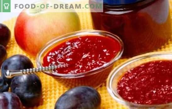 Džemas iš obuolių ir slyvų - gintaro saldumas arbatai ir kepimui. Geriausi kvapiųjų džemų iš obuolių ir slyvų receptai
