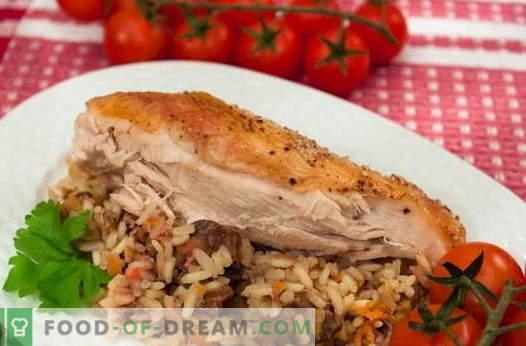Vištiena su ryžiais - geriausi receptai. Kaip tinkamai ir skaniai virti įdaryti ryžių vištiena.