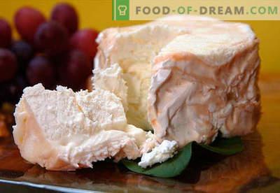 Домашно сирење - најдобри рецепти. Како правилно и вкусно готварско сирење од урда или млеко дома.