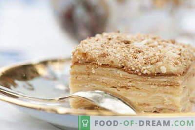 Napoleono tortas - geriausi receptai. Kaip tinkamai ir virti Napoleono pyragas.
